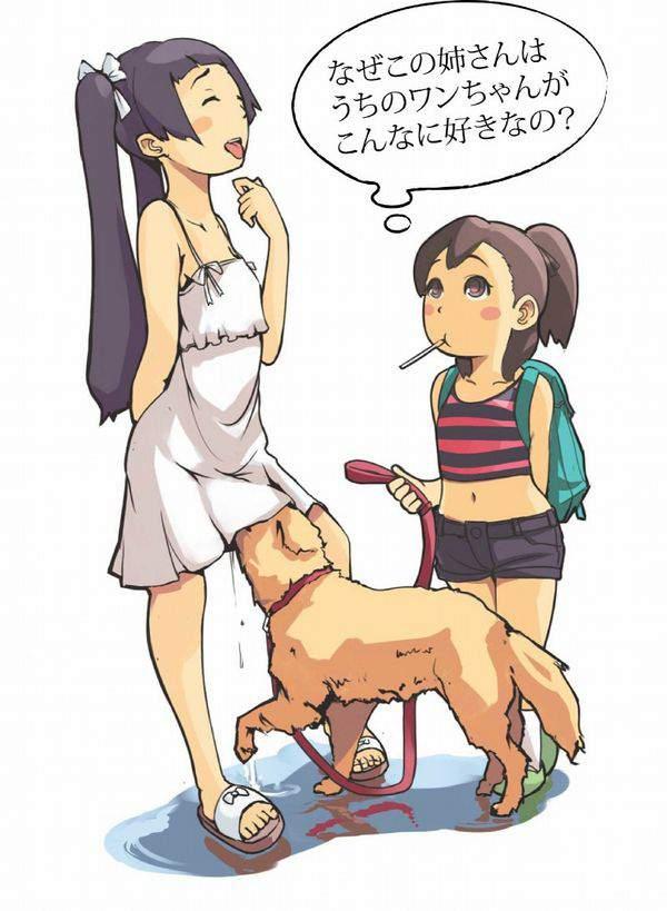 【所謂バター犬】ワンワンにマンマン舐めさせてる二次エロ画像【15】