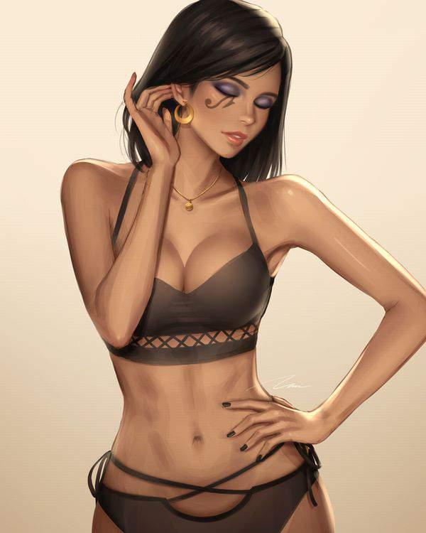 【バレット】タトゥーの入った褐色女子達の二次エロ画像【ムテバ】【19】