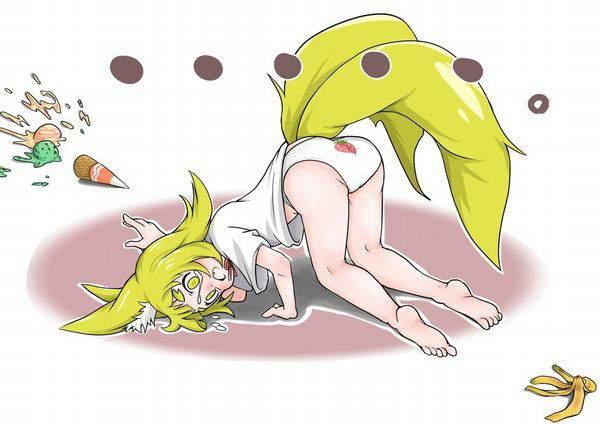 【すってんころりん】バナナの皮で滑って転んだ女子達の二次エロ画像【36】
