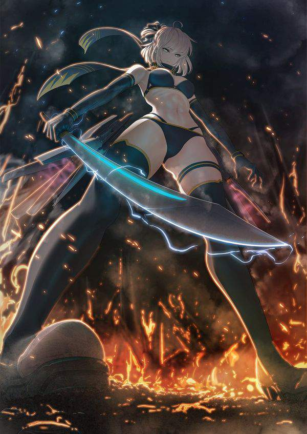 【Fate/GrandOrder】沖田総司(水着)のエロ画像【35】