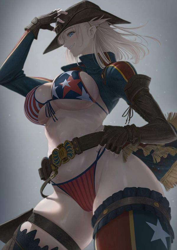 【Fate/GrandOrder】宮本武蔵(水着)のエロ画像【45】