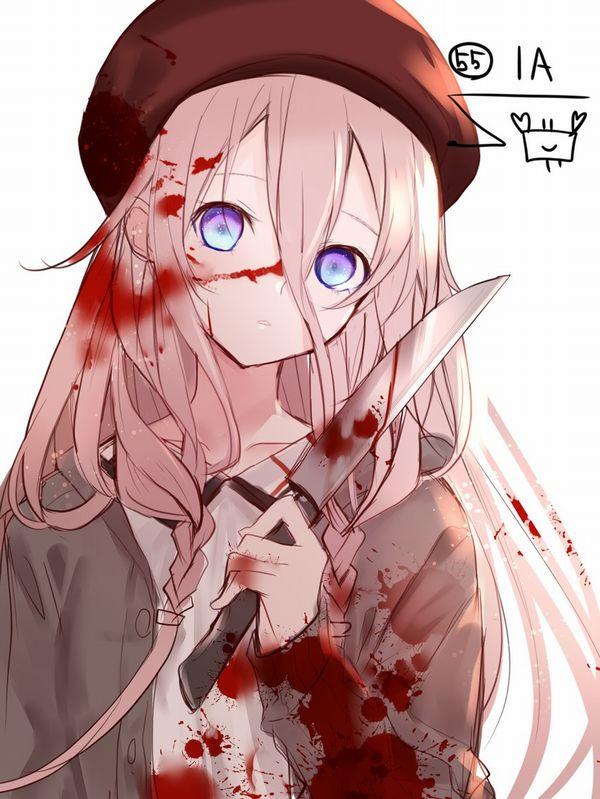 【その勘が言ってる】血の着いたナイフや包丁を手にしてコッチを見つめる女子達の二次エロ画像【オレはここで死ぬ】【9】