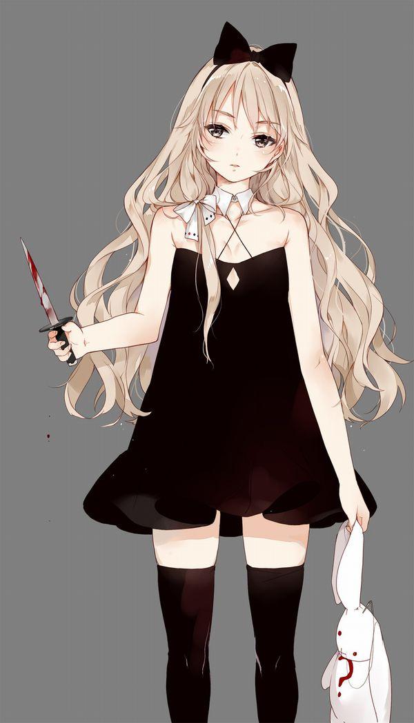 【その勘が言ってる】血の着いたナイフや包丁を手にしてコッチを見つめる女子達の二次エロ画像【オレはここで死ぬ】【18】
