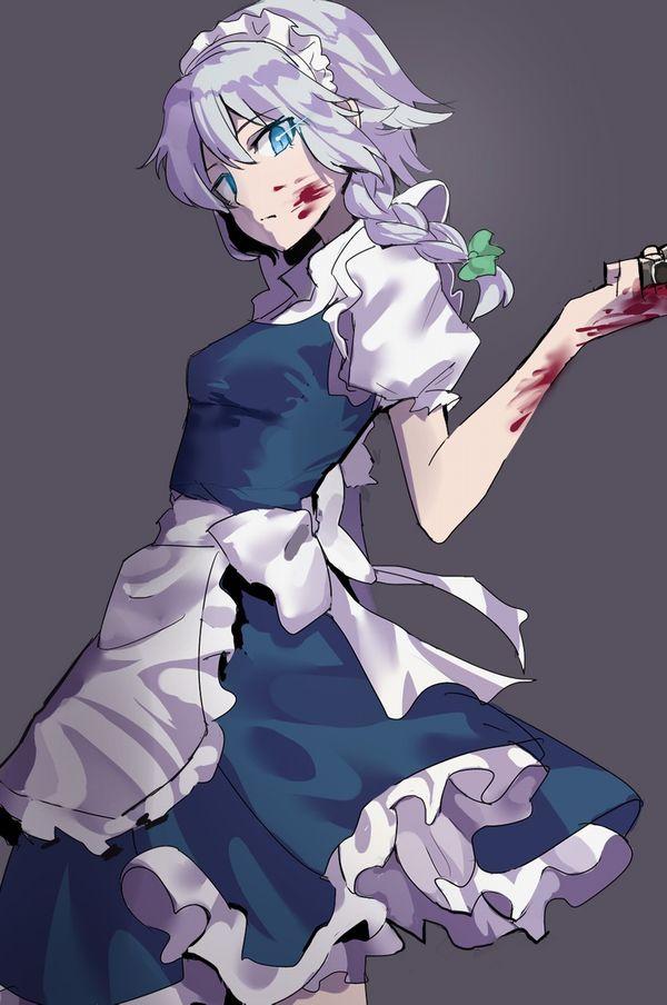 【その勘が言ってる】血の着いたナイフや包丁を手にしてコッチを見つめる女子達の二次エロ画像【オレはここで死ぬ】【22】
