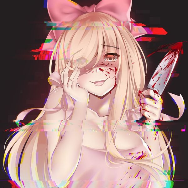 【その勘が言ってる】血の着いたナイフや包丁を手にしてコッチを見つめる女子達の二次エロ画像【オレはここで死ぬ】【27】
