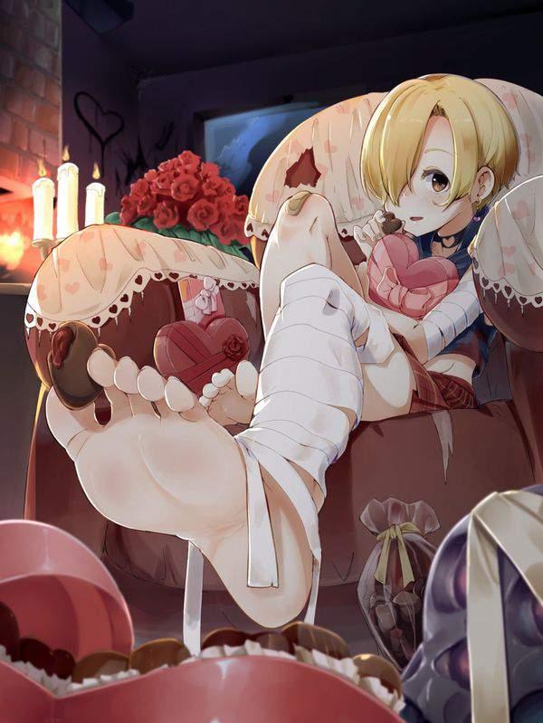 【ドMのバレンタイン】足の指でチョコレートを渡してくるドS女子達の二次エロ画像【6】