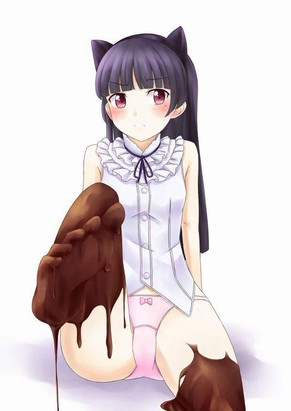 【ドMのバレンタイン】足の指でチョコレートを渡してくるドS女子達の二次エロ画像【17】
