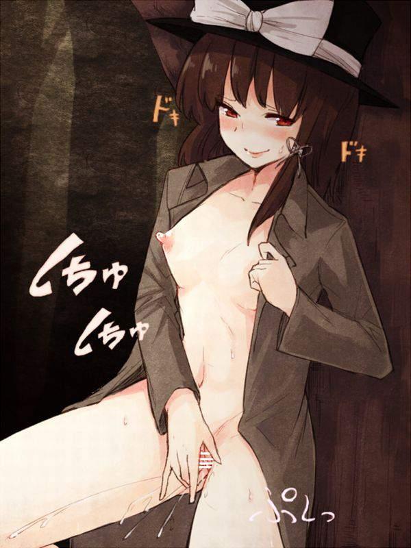 【冬の露出狂達の正装】コートの中は「全裸」な二次エロ画像【19】