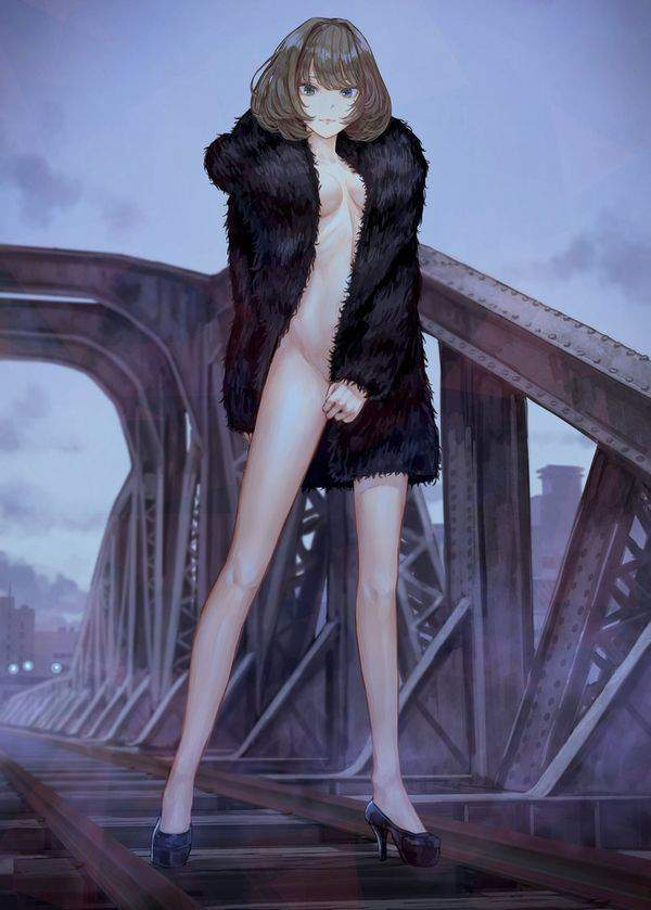 【冬の露出狂達の正装】コートの中は「全裸」な二次エロ画像【24】