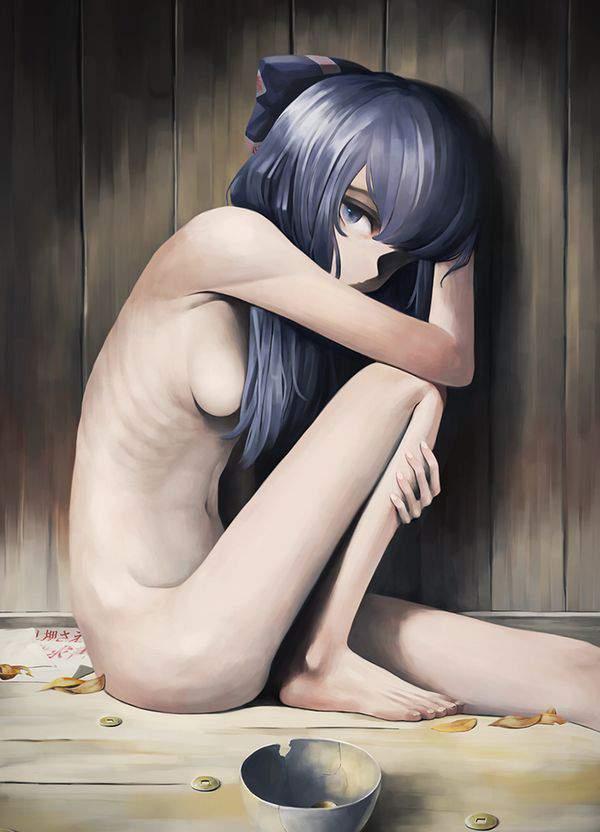 【体脂肪率低し】うっすらアバラが浮いてるスレンダーな女の子の二次エロ画像【40】