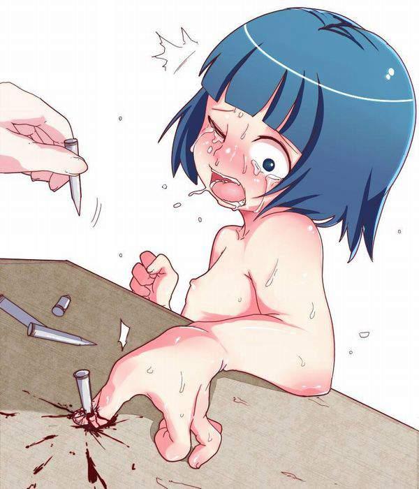 【死ぬ事は避けられない】女の子がガチで拷問されてる二次リョナ画像【6】