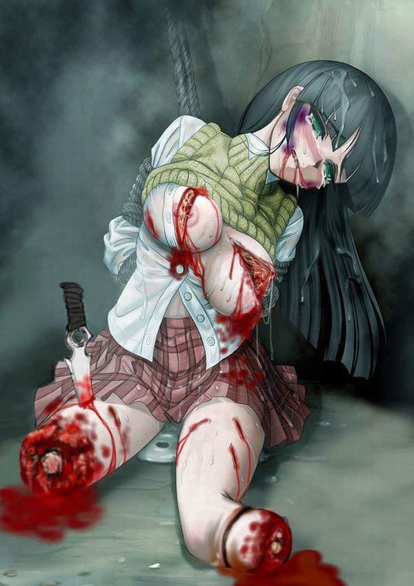 【死ぬ事は避けられない】女の子がガチで拷問されてる二次リョナ画像【9】