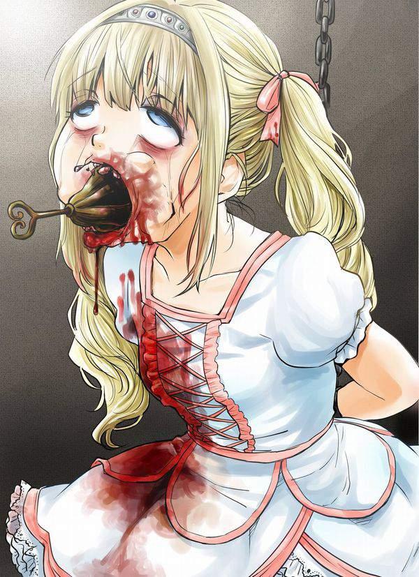 【死ぬ事は避けられない】女の子がガチで拷問されてる二次リョナ画像【15】