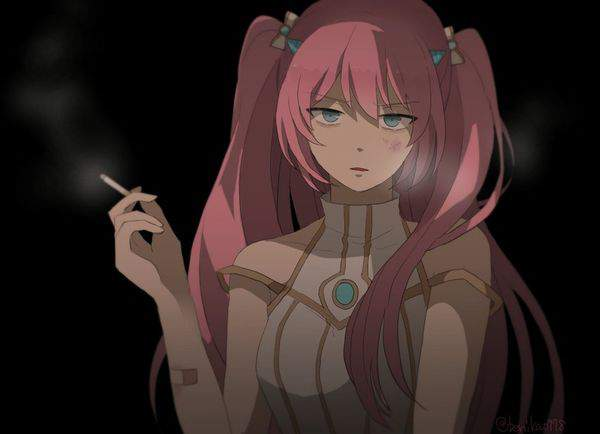 【多分元ヤン】ちょっと恐そうなお姉さん達がタバコ吸ってる二次画像【8】