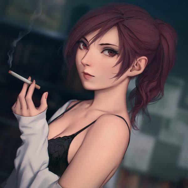 【多分元ヤン】ちょっと恐そうなお姉さん達がタバコ吸ってる二次画像【10】