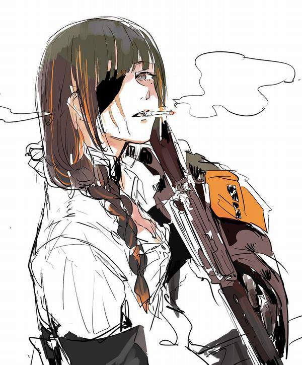 【多分元ヤン】ちょっと恐そうなお姉さん達がタバコ吸ってる二次画像【26】