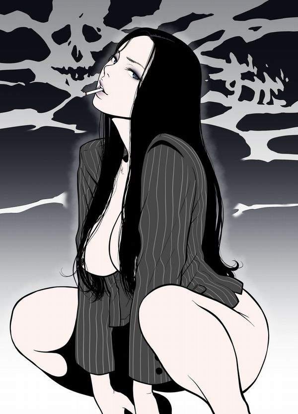 【多分元ヤン】ちょっと恐そうなお姉さん達がタバコ吸ってる二次画像【30】