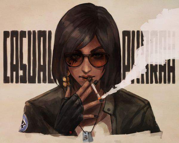 【多分元ヤン】ちょっと恐そうなお姉さん達がタバコ吸ってる二次画像【33】