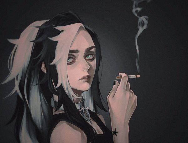 【多分元ヤン】ちょっと恐そうなお姉さん達がタバコ吸ってる二次画像【37】