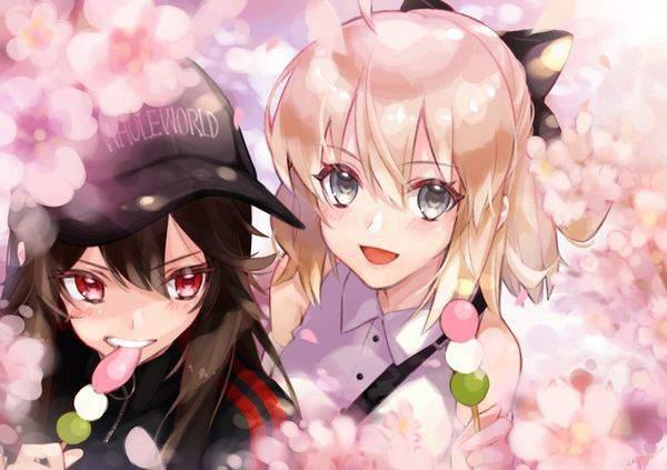 【今年も花見の季節】桜を見ながら三色だんごを食べる女子達の二次画像【12】