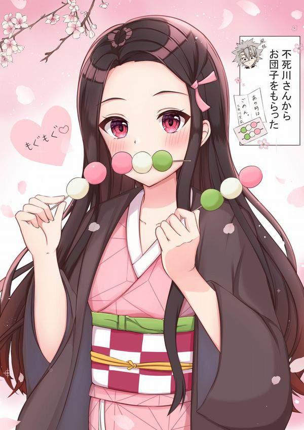 【今年も花見の季節】桜を見ながら三色だんごを食べる女子達の二次画像【24】