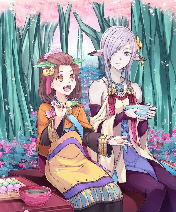 【今年も花見の季節】桜を見ながら三色だんごを食べる女子達の二次画像【26】