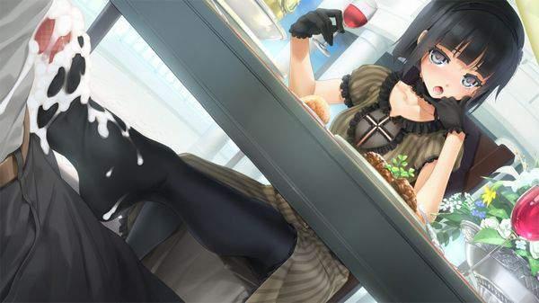 【テクニシャン】テーブルの下でこっそり足コキしてる二次エロ画像【13】