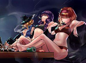 【多分元ヤン】ちょっと恐そうなお姉さん達がタバコ吸ってる二次画像