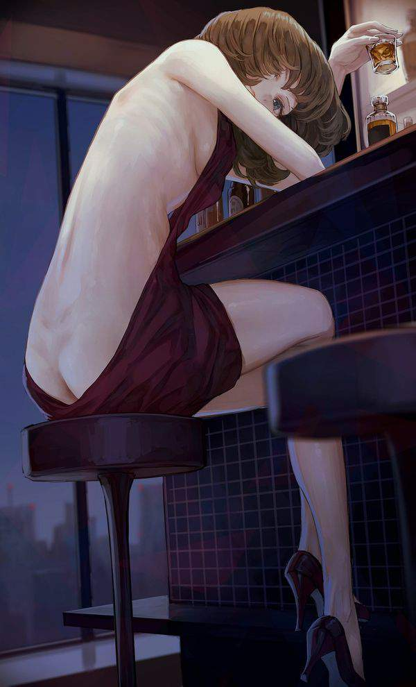 【都内は入店自粛要請中】バーでお酒を嗜む女子達の二次画像【2】