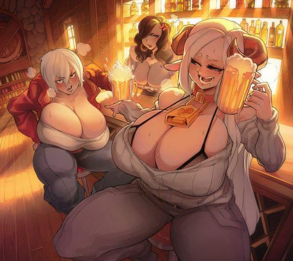 【都内は入店自粛要請中】バーでお酒を嗜む女子達の二次画像【10】