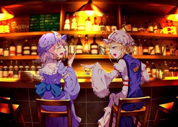 【都内は入店自粛要請中】バーでお酒を嗜む女子達の二次画像【35】