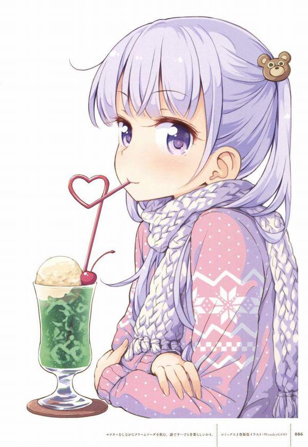 【喫茶店の定番】クリームソーダと女の子の二次画像【12】