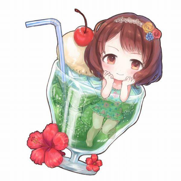【喫茶店の定番】クリームソーダと女の子の二次画像【24】