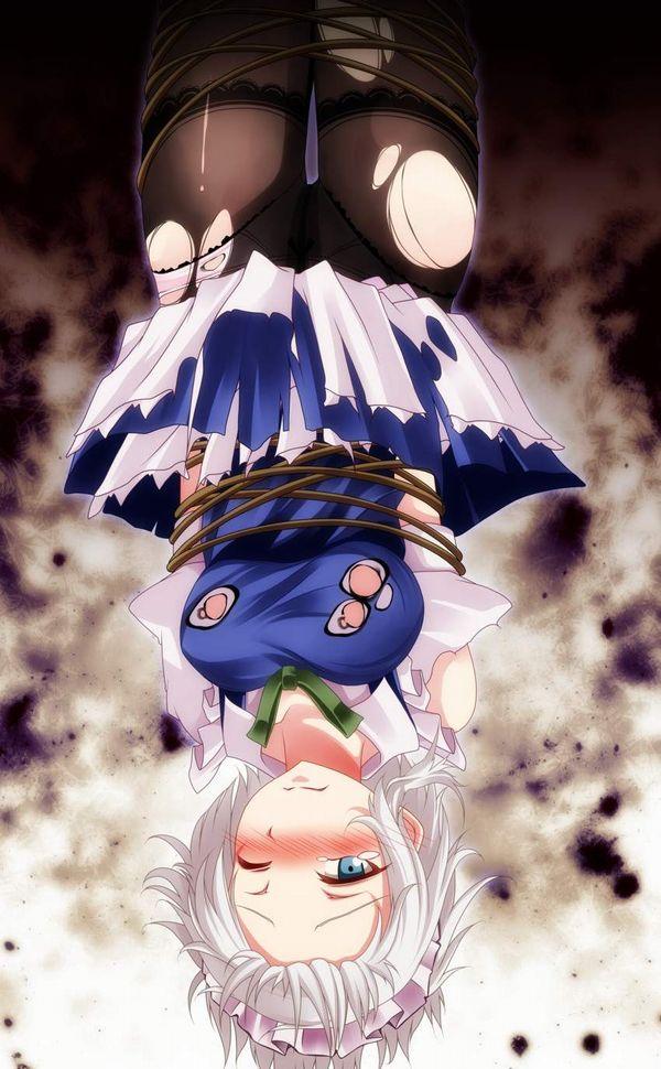 【これは拷問】逆さ吊りにされてる二次エロ画像【21】
