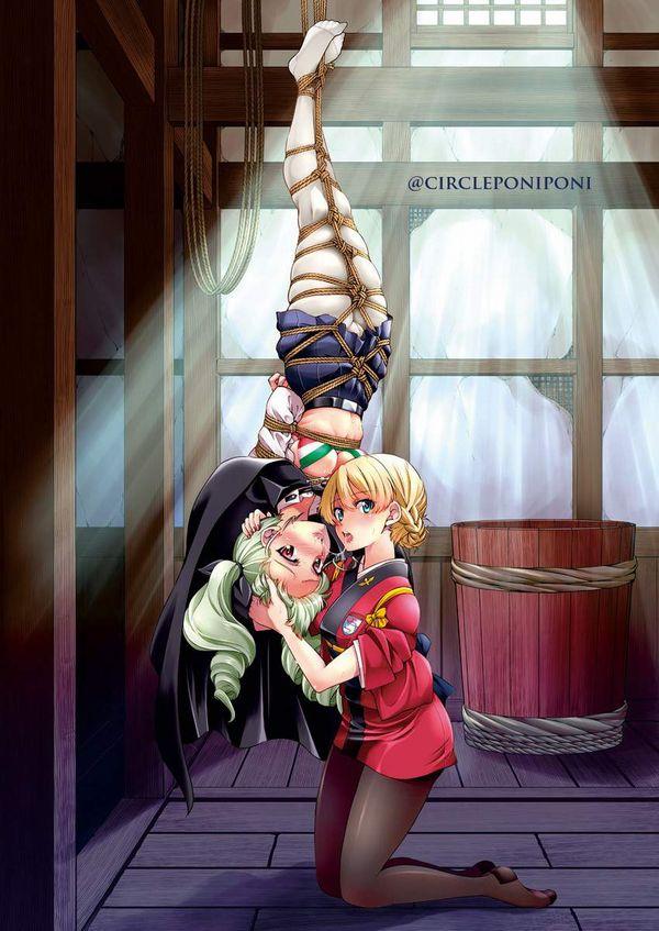 【これは拷問】逆さ吊りにされてる二次エロ画像【34】