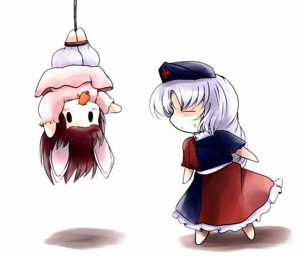【これは拷問】逆さ吊りにされてる二次エロ画像【37】
