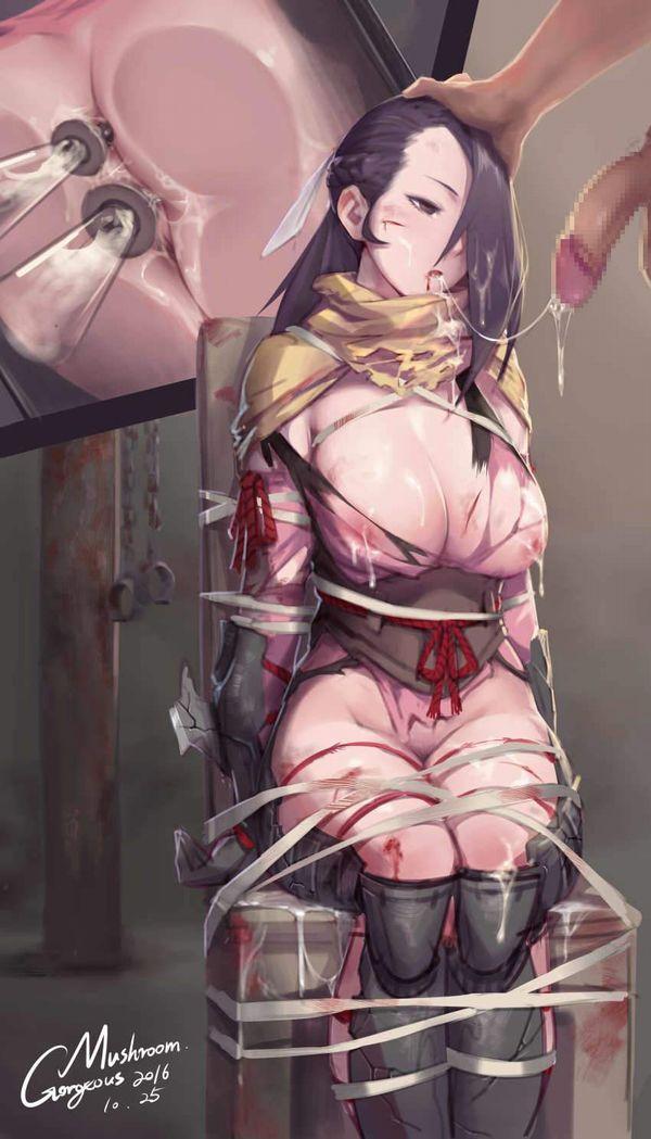 【腹の中でぐるぐるしている】いちぢく浣腸入れてる女子達の二次エロ画像【29】