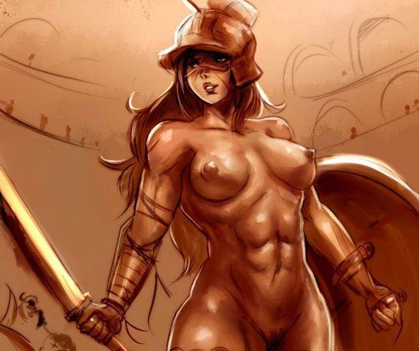 【防御力に一抹の不安】露出の多い格好してる女剣士達の二次エロ画像【24】