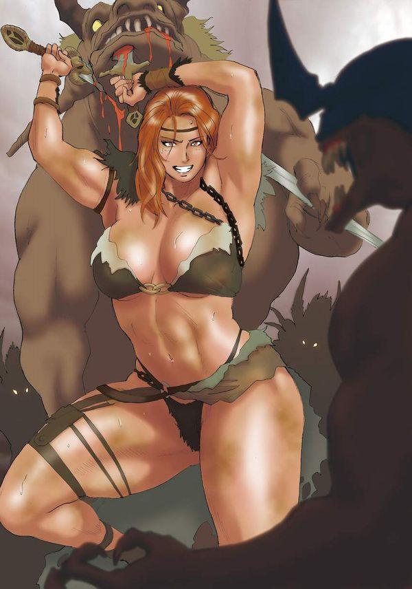 【防御力に一抹の不安】露出の多い格好してる女剣士達の二次エロ画像【26】