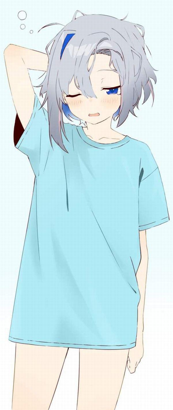【リアルな女子の部屋着】上はTシャツ下はパンツみたいな格好してる女子達のエロ画像【12】