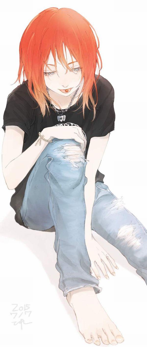 【最近はあんまり流行って無い】ダメージジーンズ履いた女子達の二次エロ画像【37】
