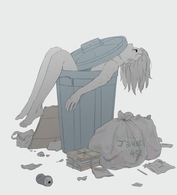 【無防備】ゴミ出ししてる女の子達の二次エロ画像【19】