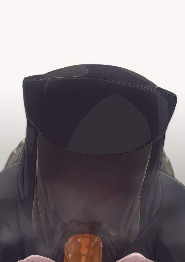 【自粛中だから】マスクしたままフェラチオしてる二次エロ画像【40】