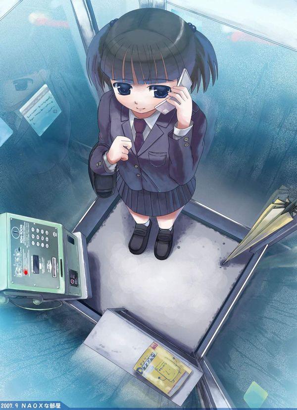 【過去の遺物】電話ボックスを使う女子達の二次エロ画像【16】