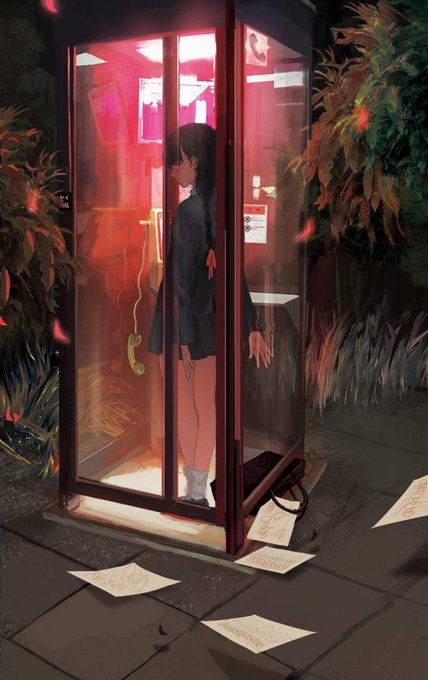 【過去の遺物】電話ボックスを使う女子達の二次エロ画像【21】