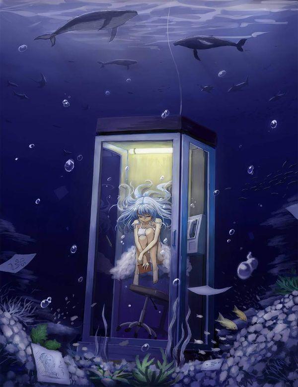 【過去の遺物】電話ボックスを使う女子達の二次エロ画像【24】