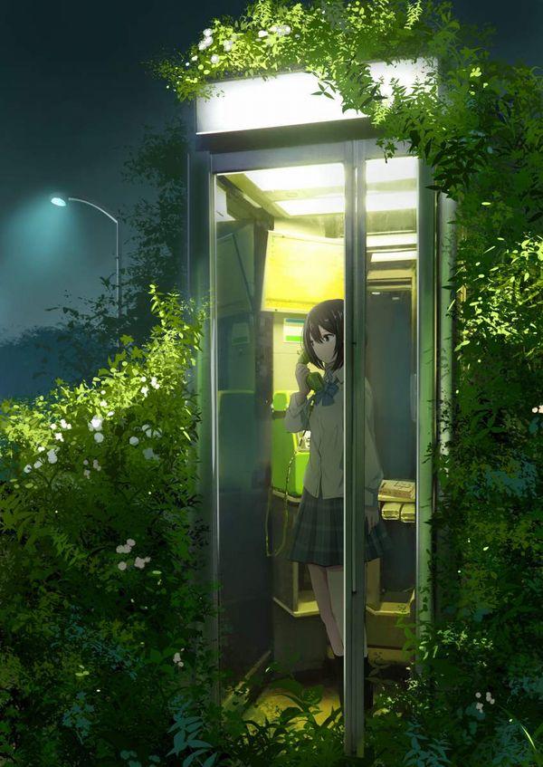 【過去の遺物】電話ボックスを使う女子達の二次エロ画像【32】