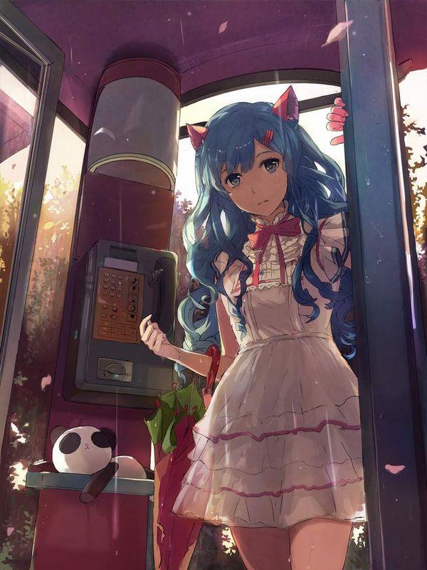 【過去の遺物】電話ボックスを使う女子達の二次エロ画像【33】