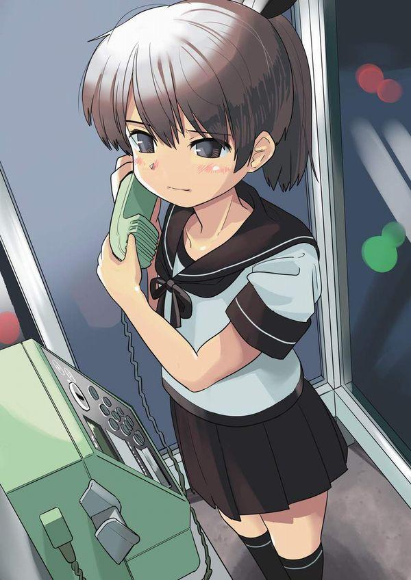 【過去の遺物】電話ボックスを使う女子達の二次エロ画像【38】
