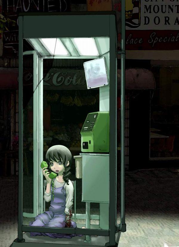 【過去の遺物】電話ボックスを使う女子達の二次エロ画像【39】